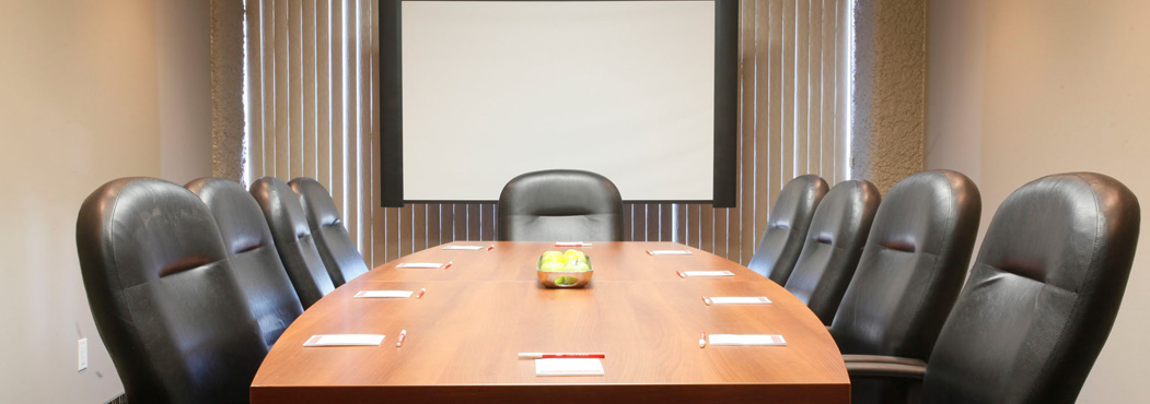 Fort St. John meeting rooms using a Boardroom layout at the Stonebridge Hotel