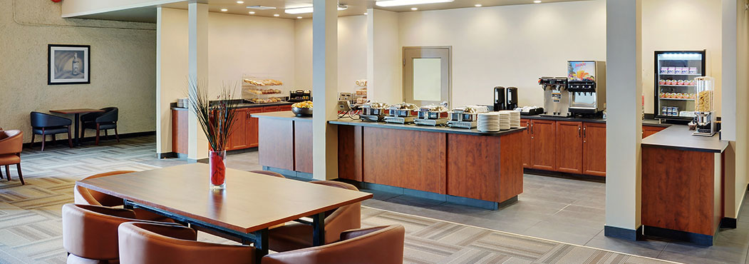 Fort St. John Stonebridge free hot breakfast served in the new Breakfast room