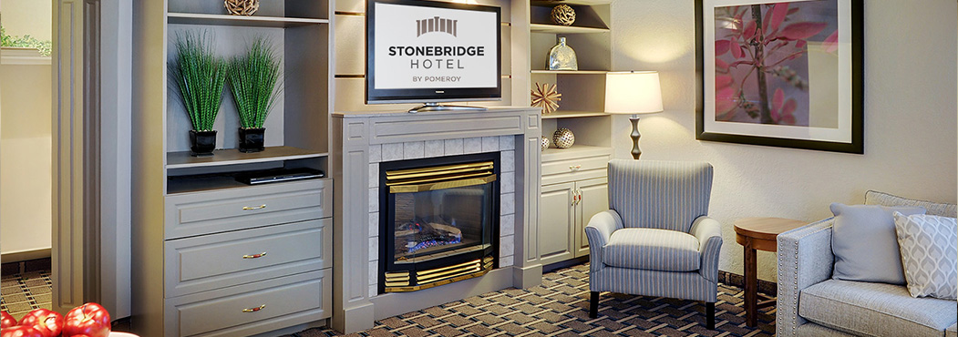 Stonebridge in Grand Prairie suites with separate rooms for bed & entertainment